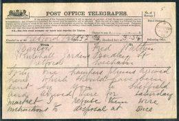 1875 GB Post Office Telegraph Retford - Evesham - 1840-1901 (Victoria)