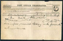 1888 GB Post Office Telegraph Dewsbury - Aberdeen - 1840-1901 (Victoria)