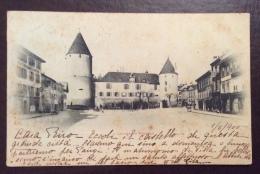 SUISSE - CASTELLO  D' YVERDON  - ANNULLO YVERDON  - PER GENOVA NEL 1900 - Other