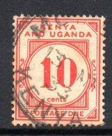 Kenya, Uganda & Tanganyika 1928 Postage Dues - 10c Vermilion Used - Kenya, Uganda & Tanganyika