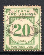 Kenya, Uganda & Tanganyika 1928 Postage Dues - 20c Green Used - Kenya, Uganda & Tanganyika