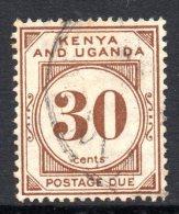Kenya, Uganda & Tanganyika 1928 Postage Dues - 30c Brown Used - Kenya, Uganda & Tanganyika