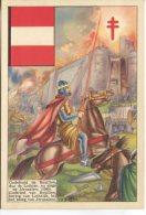 OEuvre Nationale Contra La Tuberculose Postcard,  Godefrold De Bouillon Au Siege De Jerusalem 1099 - History