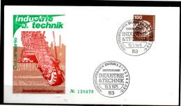 ALLEMAGNE   FDC   1975  Industrie Et  Technique  Excavateur - Factories & Industries