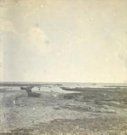 France Bretagne Penmarch Port De Kerety Ancienne Stereo Photo Stereoscope 1900 - Stereoscopic
