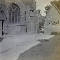 France Bretagne Eglise De Penmarch Ancienne Stereo Photo Stereoscope 1900 - Stereoscopic