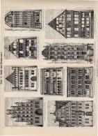 Gotic & Renaissance Plate Around 1895 (scan = Front & Back) (226) - Prints & Engravings