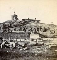France Sommet Du Puy De Dome Observatoire Temple De Mercure Ancienne Stereo Photo Stereoscope 1900