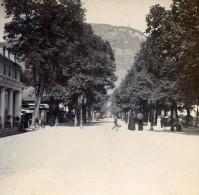 France Pyrenées Luchon Allée D'Etigny Ancienne Stereo Photo Stereoscope 1900 - Stereoscopic