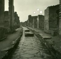 Italie Pompei Vico Storto Ancienne Stereo Photo Stereoscope Possemiers 1910 - Stereoscopic