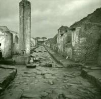 Italie Pompei Via Stabia Ancienne Stereo Photo Stereoscope Possemiers 1910 - Stereoscopic