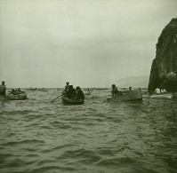 Italie Capri Sortie De La Grotte D'Azur Ancienne Stereo Photo Stereoscope Possemiers 1910