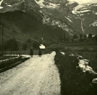 France Pyrenees Gavarnie Sur La Route Du Cirque Ancienne Stereo Photo Stereoscope Possemiers 1910 - Photos Stéréoscopiques
