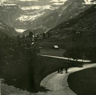 France Pyrenees Cirque De Gavarnie Panorama Ancienne Stereo Photo Stereoscope Possemiers 1910 - Stereoscopic