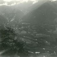 France Cauterets Vue De La Grange De La Reine Hortense Ancienne Stereo Photo Possemiers 1910 - Stereoscopic
