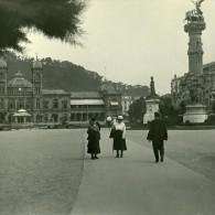 Pays Basque Donostia Saint Sebastien Casino Ancienne Stereo Photo Stereoscope Possemiers 1910 - Stereoscopic