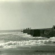 France Pyrenees Biarritz Jetee De La Barre Ancienne Stereo Photo Stereoscope Possemiers 1910 - Stereoscoop