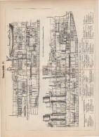 Panzerschiffe War Ships Plate Around 1895 (scan = Front & Back)   (233) - Prints & Engravings