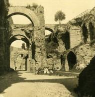 Italie Rome Mont Palatin Palais De Septime Severe Ancienne Stereo Photo Stereoscope NPG 1900 - Stereoscopic