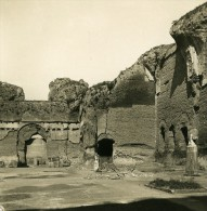 Italie Rome Thermes De Caracalla Ancienne Stereo Photo Stereoscope NPG 1900 - Stereoscopic