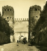 Italie Rome Porte San Sebastiano Ancienne Stereo Photo Stereoscope NPG 1900 - Stereoscopic