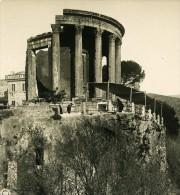 Italie Rome Tivoli Temple De La Sibille Ancienne Stereo Photo Stereoscope NPG 1900 - Photos Stéréoscopiques