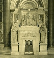 Vatican Basilique Saint Pierre San Pietro Detail Ancienne Stereo Photo Stereoscope NPG 1900 - Stereoscopic