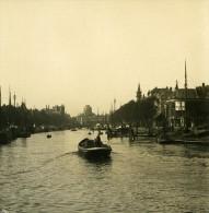 Pays Bas Rotterdam Port Nouveau Ancienne Stereo Photo Stereoscope NPG 1900 - Stereoscopic