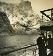 Norvege Baie De Molde Ancienne Stereo Photo Stereoscope NPG 1900