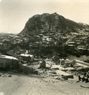 Norvege Aalesund Panorama Hivernal Ancienne Stereo Photo Stereoscope NPG 1900 - Stereoscopic