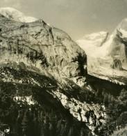 Italie Alpes Dolomites Le Gran Vernel Vue De L'Hotel Bamberger Ancienne Stereo Photo NPG 1900 - Stereoscopic