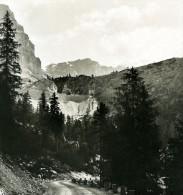 Italie Alpes Dolomites Passe De Falzarego Ancienne Stereo Photo Stereoscope NPG 1900 - Stereoscopic