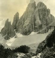 Italie Alpes Dolomites Le Croda Dei Toni Ancienne Stereo Photo Stereoscope NPG 1900 - Stereoscopic