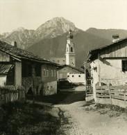Italie Alpes Tyrol Val Pusteria Dobbiaco Ancienne Stereo Photo Stereoscope NPG 1900 - Stereoscopic