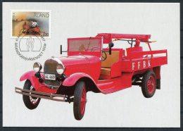 Aland Fire Engine, Art, Folk, High School Maxicards X 4 - Aland