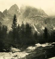 Italie Alpes Dolomites Carbonin & Croda Rossa Ancienne Stereo Photo Stereoscope NPG 1900 - Stereoscopic