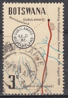 Botswana, 1972 - 3c Gubulawayo  Cancel Of Map - Nr.88 Usato° - Botswana (1966-...)