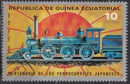 Guinea Equatoriale, 1972  - 10p Japanese Railroad - Nr.72180 Usato° - Guinea Equatoriale
