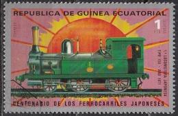 Guinea Equatoriale, 1972 - 1p Japanese Railroad - Nr.72177 Usato° - Guinea Equatoriale