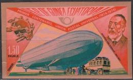 Guinea Equatoriale, 1974 - 1,50p Ferdinand Von Zeppelin, Imperforato - MNH** - Guinea Equatoriale