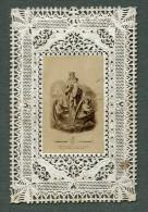 France Boulogne Sur Mer Religion Image Pieuse Canivet Photo Albumine Sur Papier Dentelle 1870's