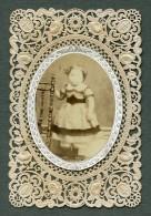 France Religion Image Pieuse Canivet Portrait Photo Albumine Sur Papier Dentelle 1870's - Devotion Images
