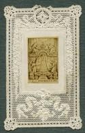 France Religion Image Pieuse Canivet ND De Fourvieres Photo Albumine Sur Papier Dentelle 1870's - Images Religieuses
