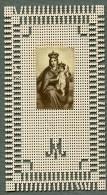 France Religion Image Pieuse Canivet Vierge Marie Et Jesus Photo Albumine Sur Papier Dentelle 1870's - Images Religieuses