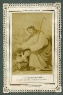 France Religion Image Pieuse Canivet Photo Albumine Sur Papier Dentelle Letaille 1880 - Devotion Images