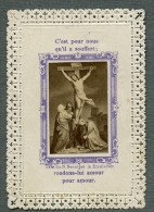 France Religion Image Pieuse Canivet Photo Albumine Sur Papier Dentelle Benziger 1880
