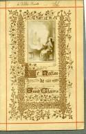 France Ste Claire Religion Image Pieuse Canivet Photo Albumine Sur Papier 1880 - Devotion Images