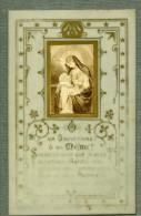 France Religion Image Pieuse Canivet Photo Albumine Sur Celluloid 1880 - Devotion Images