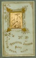 France Religion Image Pieuse Canivet Vanves Photo Albumine Sur Celluloid 1880 - Devotion Images
