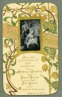 France Religion Image Pieuse Canivet Gravure Miniature Collee Sur Papier Boumard 1880 - Devotion Images